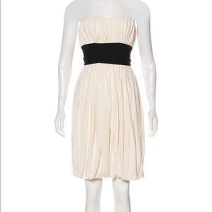 Diane Von Furstenberg Eggshell Strapless Dress